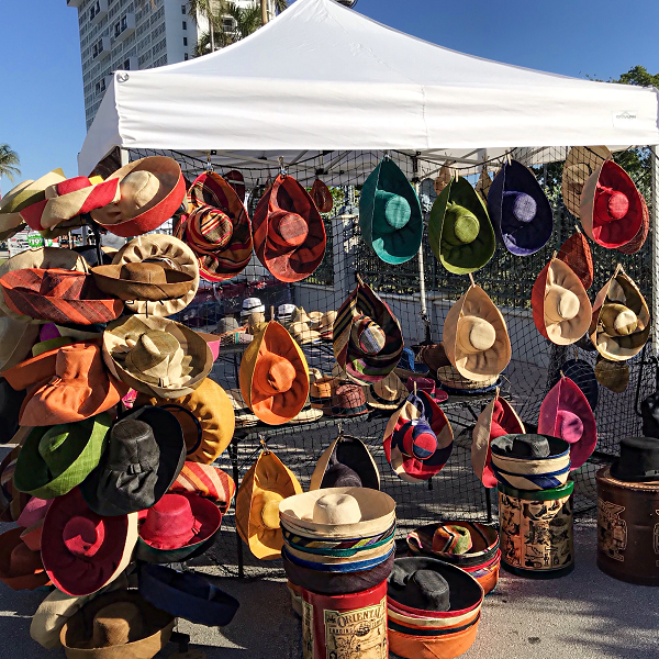 Craft Show Vendor Selling Hats from Madagascar