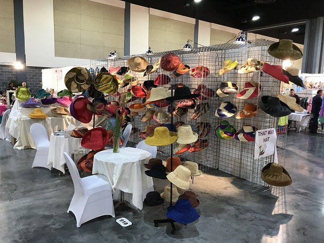 Our Madagascar Hats at Wholesale Trade Show - Trendz